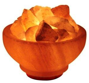 """Himalayan Rock Salt """"Fire Bowl"""" Lamp"""