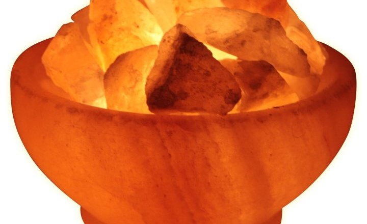 "Himalayan Rock Salt ""Fire Bowl"" Lamp"